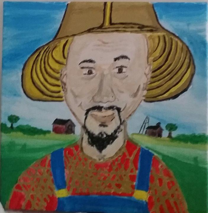 "Straight off the Farm ""Farm selfie"" - Waltbaby8_Art"