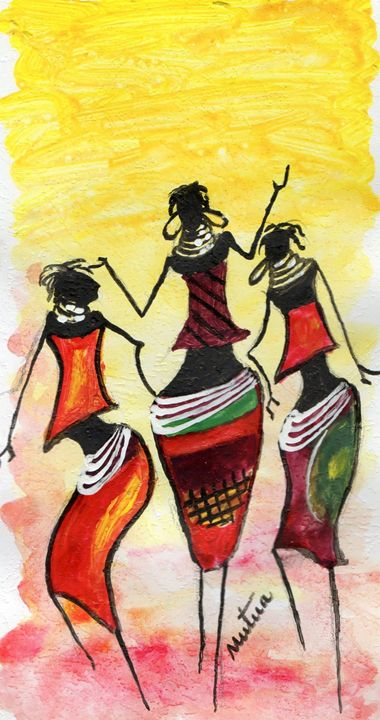 african dance moves - william mutua - Paintings & Prints
