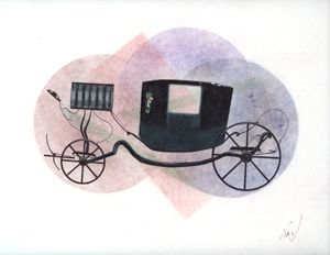 1970's horse carriage
