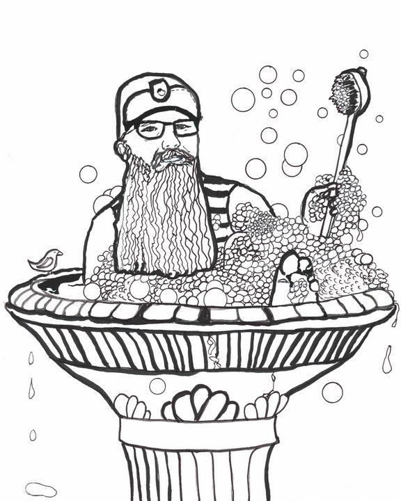 Bird Bath Beardo - Shoshanah's Art