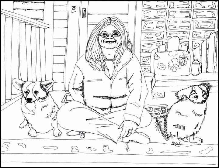 Andrea and her Dogs - Shoshanah's Art