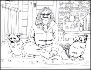 Andrea and her Dogs