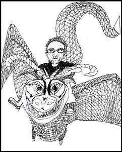 Craig on his Dragon