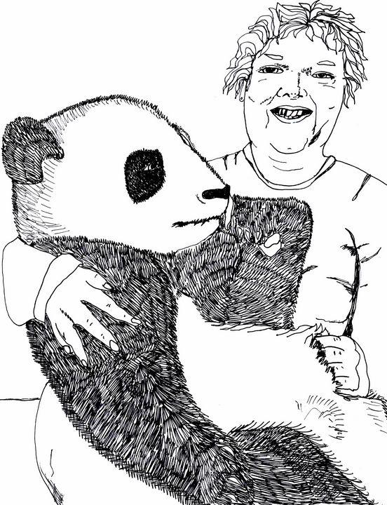 Holly with a Panda - Shoshanah's Art