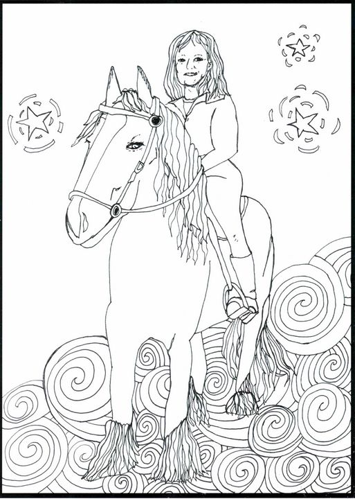 Jayline on her Horse - Shoshanah's Art