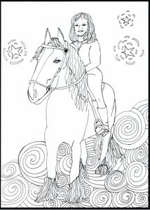 Jayline on her Horse
