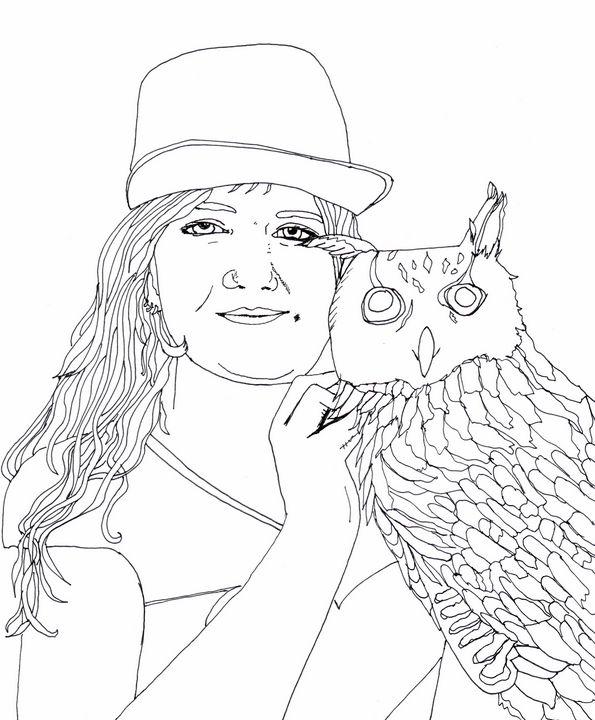 Liadan and her Owl - Shoshanah's Art