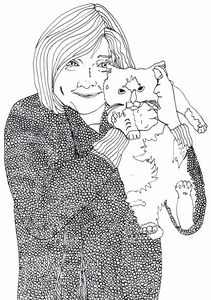 Aunt Lou and her Kitty Cat