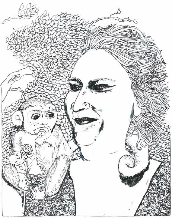 Margolet and her Monkey - Shoshanah's Art