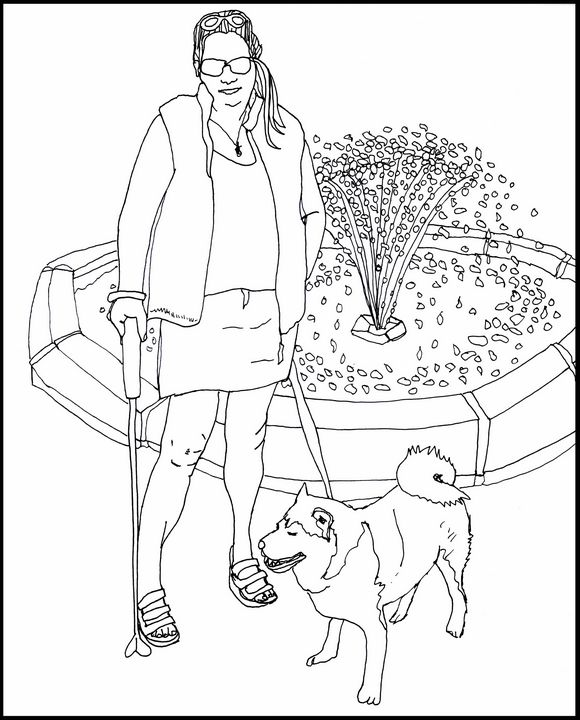 Marilyn with her Dog - Shoshanah's Art