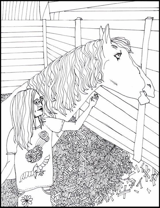Zanimal and Horse - Shoshanah's Art