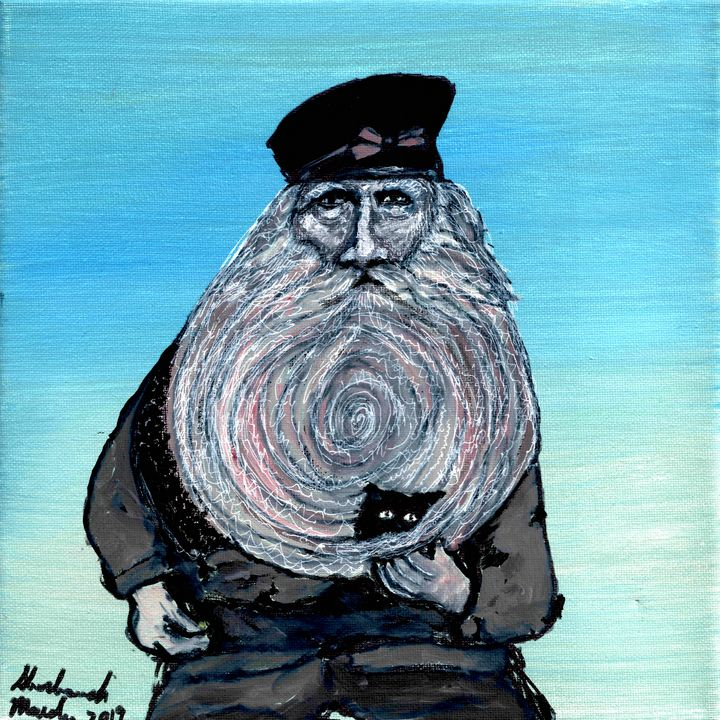 Captain with a Kitten in his Beard - Shoshanah's Art