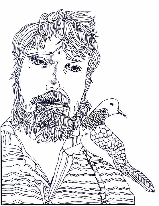 Professor Batty with a Peace Dove - Shoshanah's Art