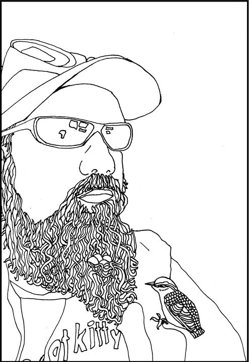 Mike Mutant Goggles & Nuthatch - Shoshanah's Art