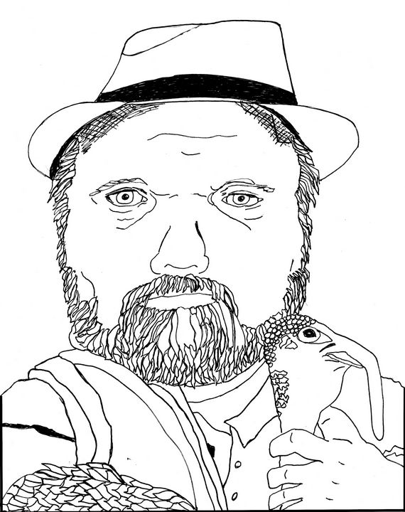 Dwayne Fry with a Turkey - Shoshanah's Art