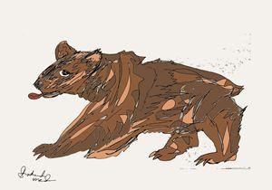 Badly Licked Bear - Shoshanah's Art