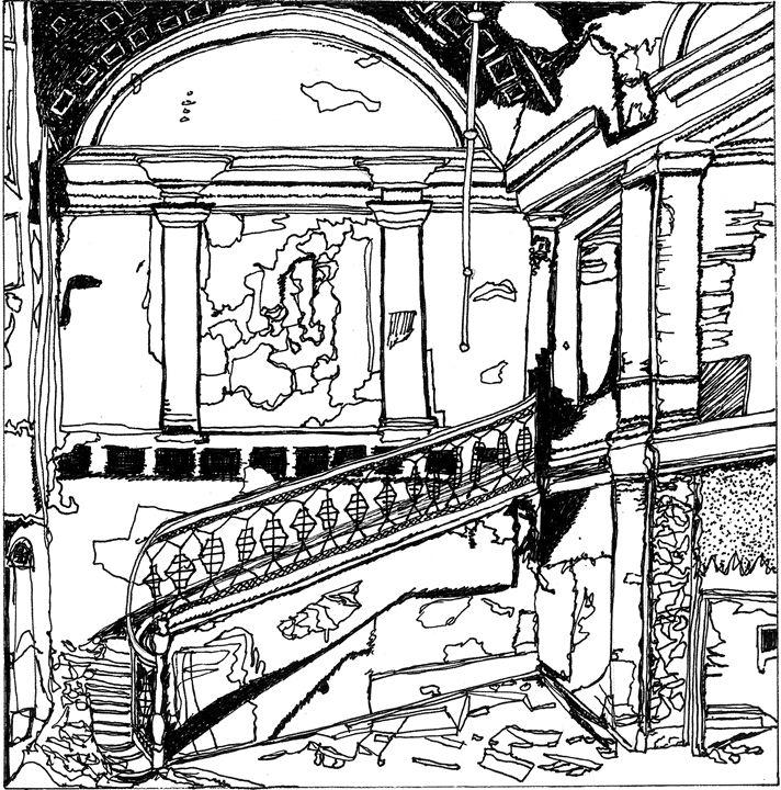 Abandoned Staircase - Shoshanah's Art