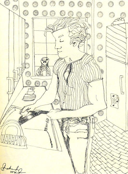 Man Doing Dishes - Shoshanah's Art