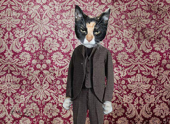 Cat in a Suit - Shoshanah's Art