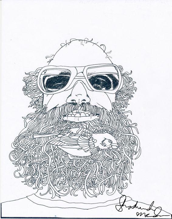 Bird in the Beard - Shoshanah's Art