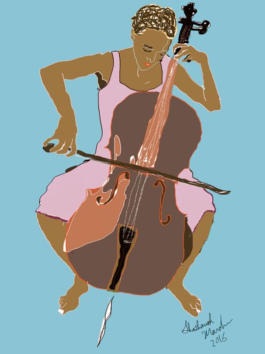Cellist - Shoshanah's Art