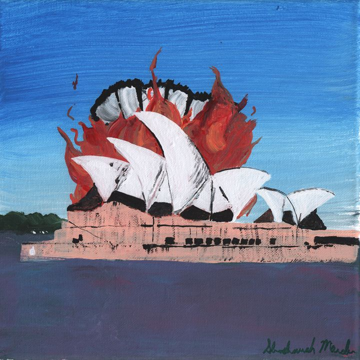 The Rooster Burns Sydney - Shoshanah's Art