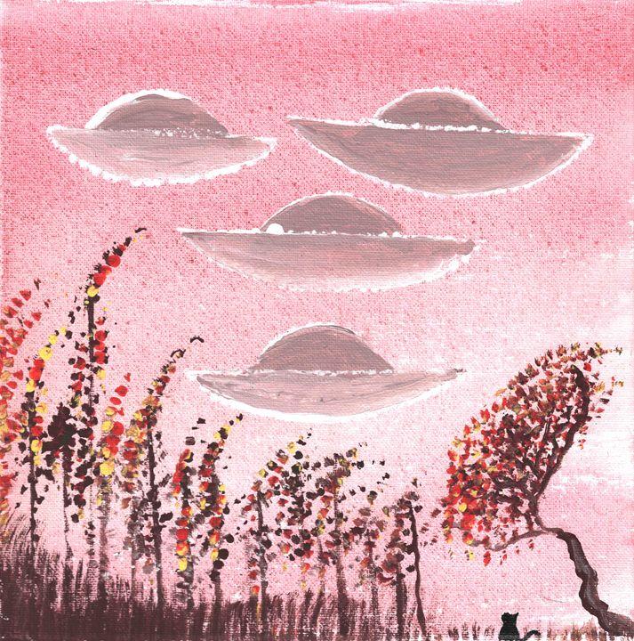 UFOs Return for Black Cat - Shoshanah's Art