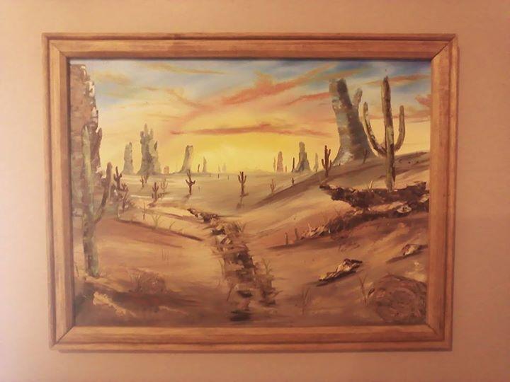 Desert at dusk - Kevin Nunn's Art Gallery
