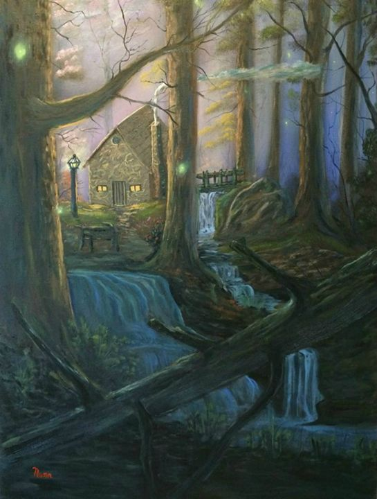 COTTAGE IN THE WOODS - Kevin Nunn's Art Gallery