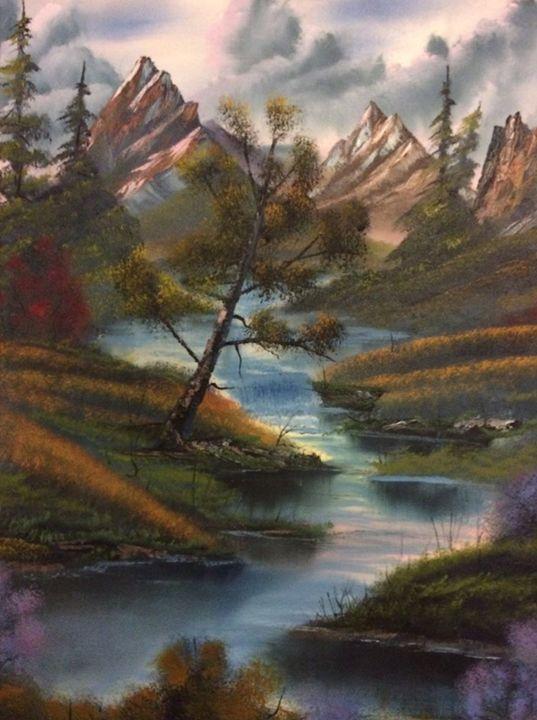 A river runs through here - Kevin Nunn's Oil paintings