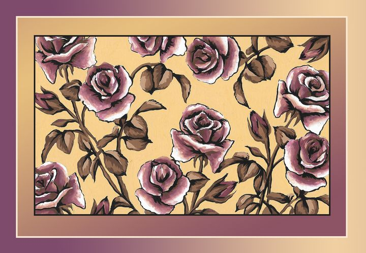 Roses in double frame - ShirazAriel