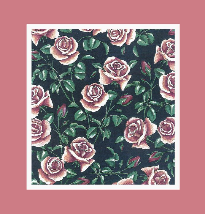 Romantic roses in pink frame - ShirazAriel
