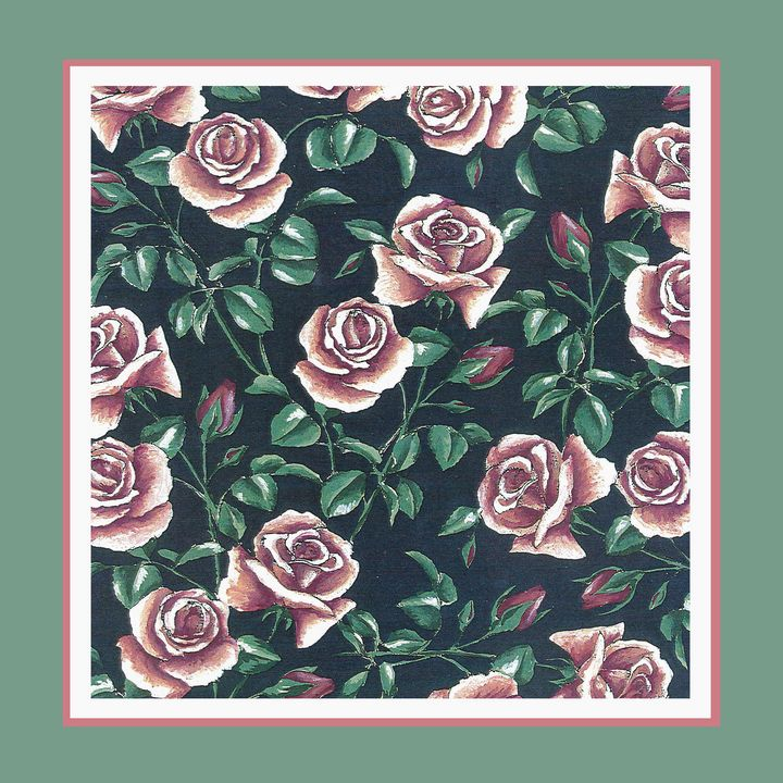 Romantic roses in green frame - ShirazAriel