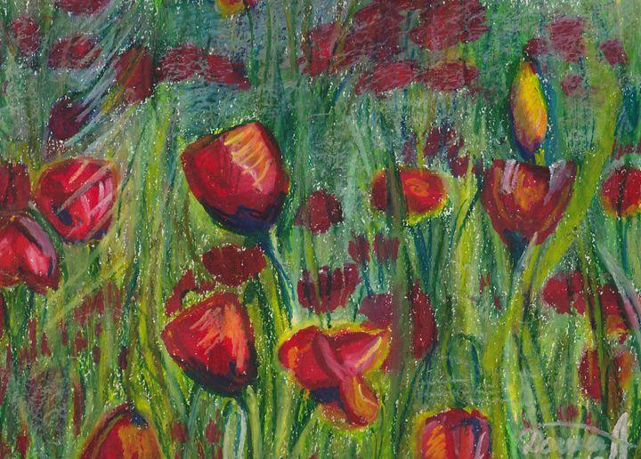 Field of Red Poppies - Dasha Tyshlek
