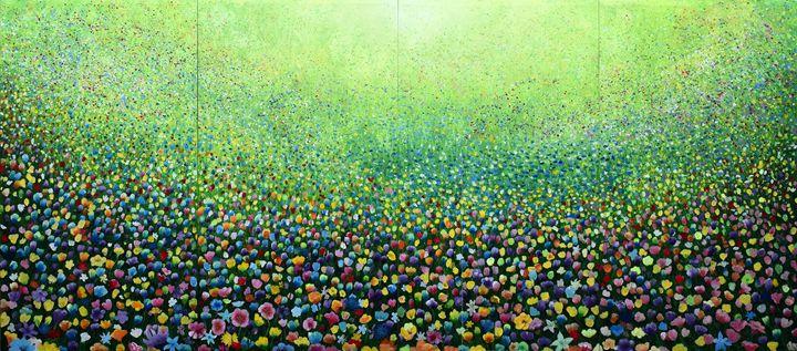 Flower Field Riot - Geoff Greene Gallery
