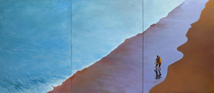 SUMMER WAVE Triptych (SOLD) - Geoff Greene Gallery