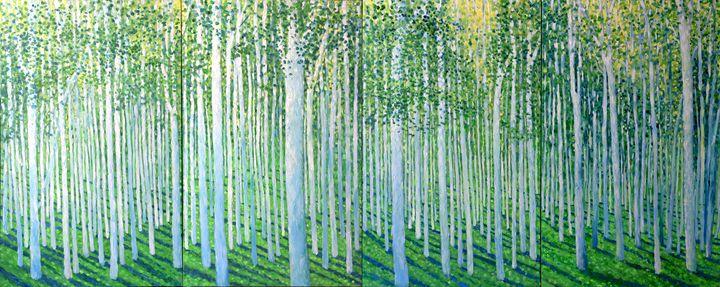 High Summer tree meditation QUAD - Geoff Greene Gallery