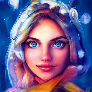 The mystery girl with blue eyes