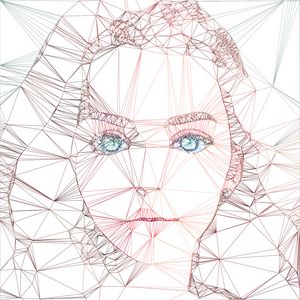 Cute Girl with blue eyes thread art