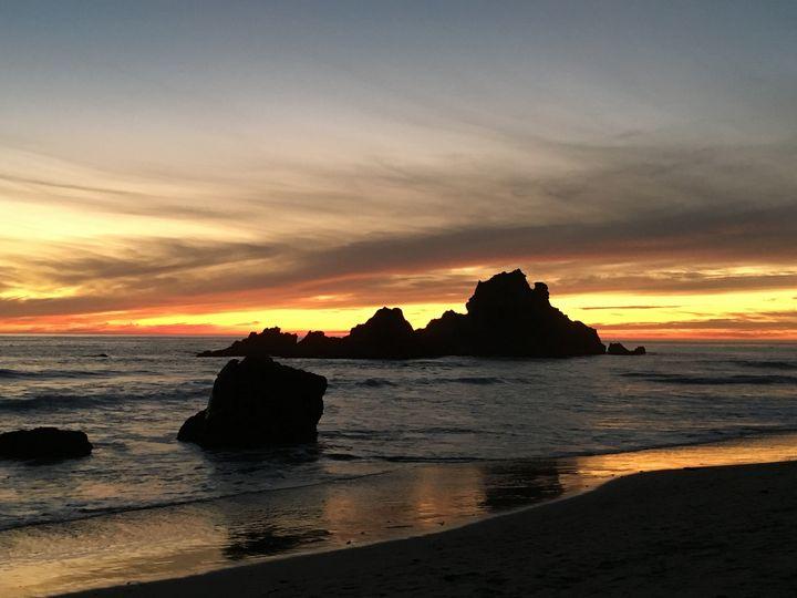 Sunset at the beach - Radha Krishna