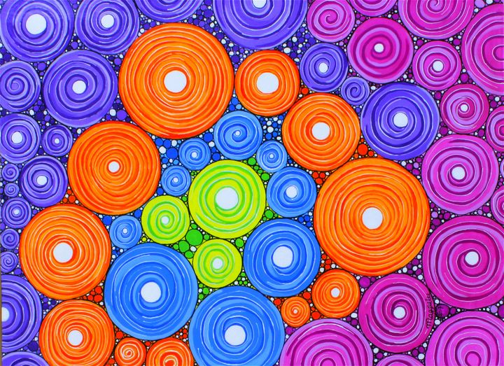 Circle Ring - Acrylic on canvas - leeartgallery