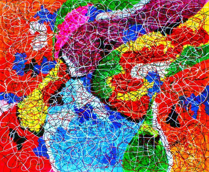Fluid - Acrylic on canvas - leeartgallery