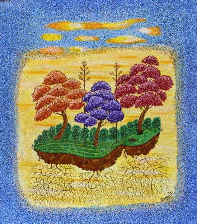 Tree-Acrylic on canvas - leeartgallery