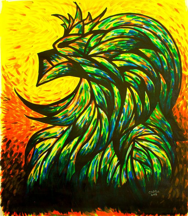 Lion - Original Acrylic Canvas - leeartgallery