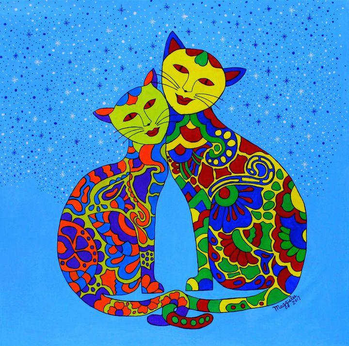 couple meow meow - leeartgallery