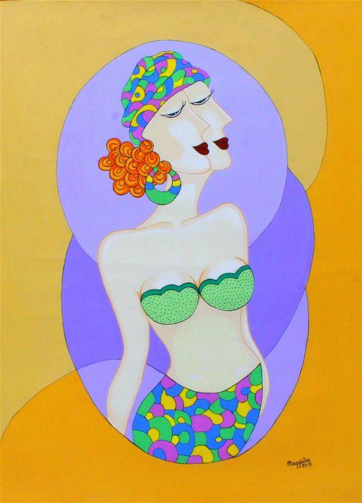 Lady 6 - Acrylic on canvas - leeartgallery