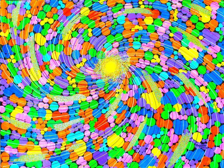 Sun - acrylic on canvas - leeartgallery