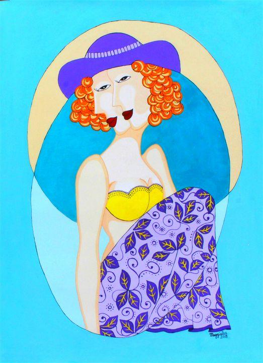 Lady 5 - Acrylic on canvas - leeartgallery