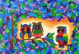 Owls in the jungle