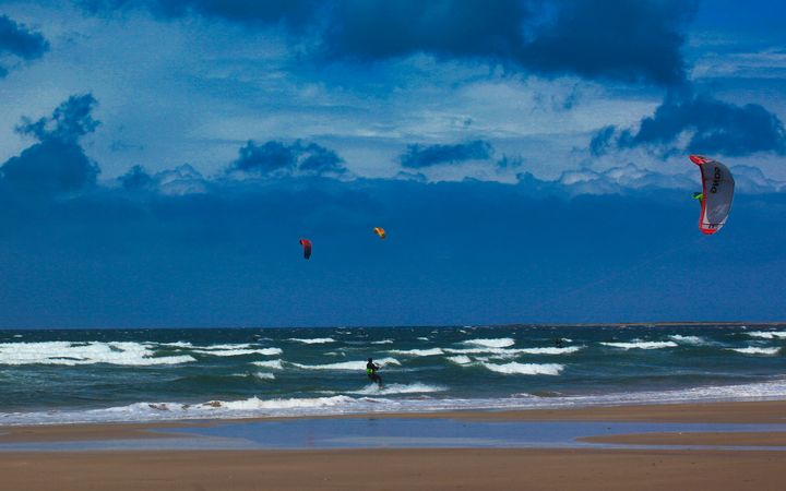 Kites against a blue blue sky - BarryH Photography